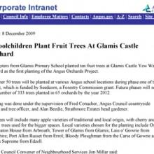 Children Plant Fruit Trees