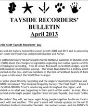 Tayside Recorders Bulletin April 2013
