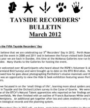 Tayside Recorders Bulletin March 2012