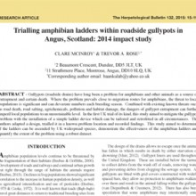 Angus Amphibian Ladders Trial 2014